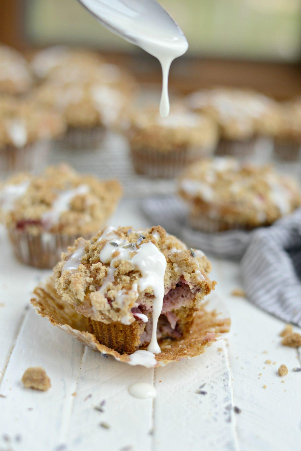Strawberry Lemon Lavender Crumb Muffins l SimplyScratch.com (24)