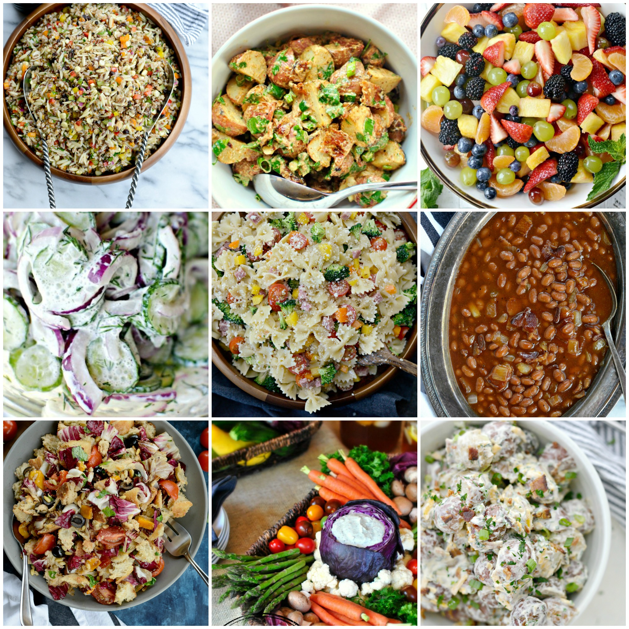 Simply scratch 25 best salads and side dishes to bring to for Side dishes for bbq ribs and chicken