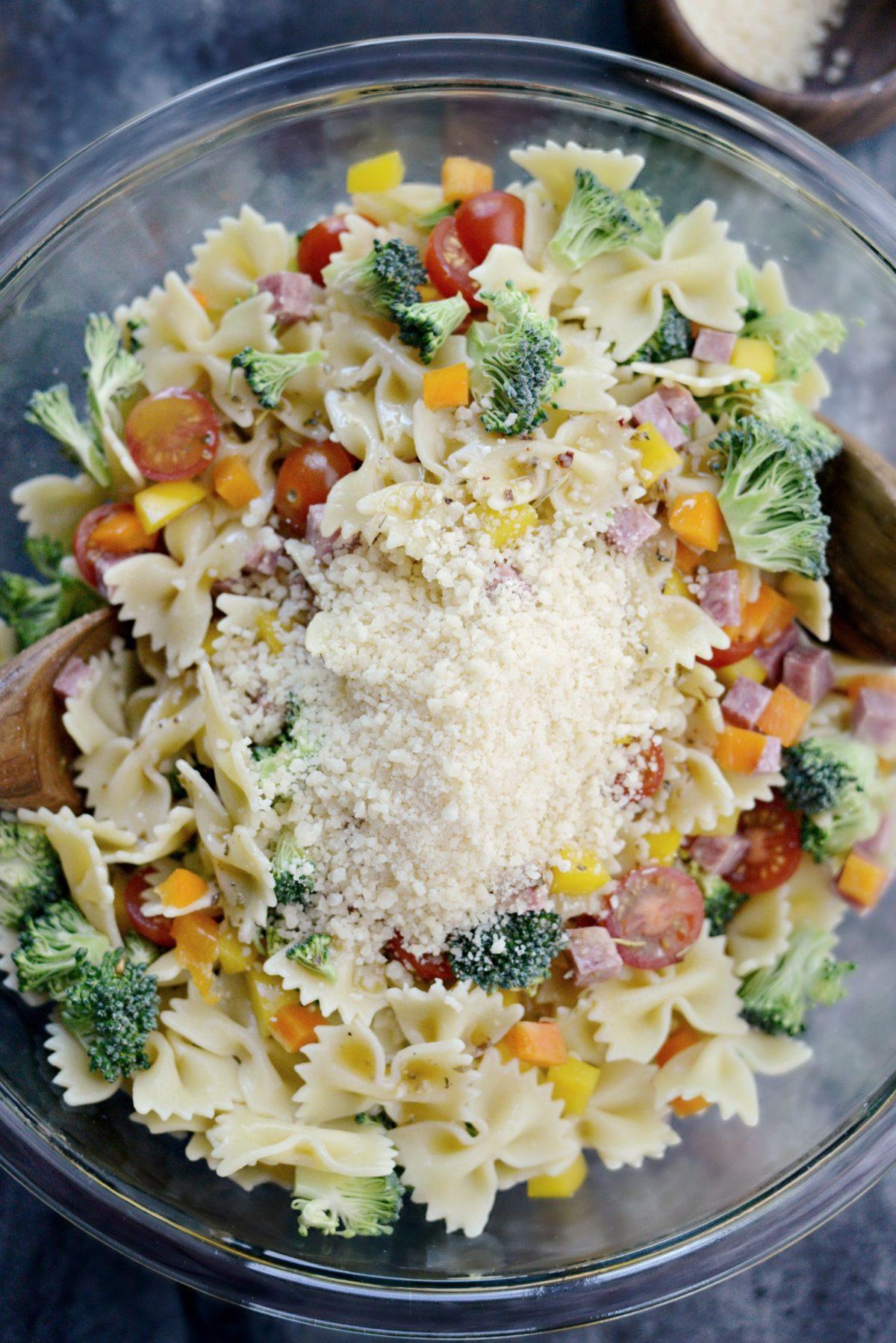 Italian Bowtie Pasta Salad l SimplyScratch.com