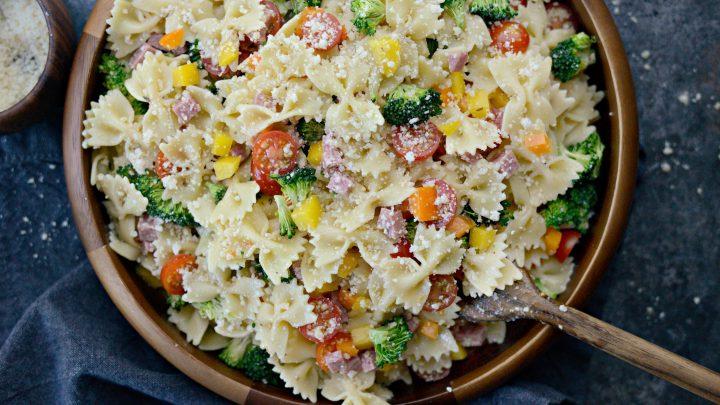 Italian Bowtie Pasta Salad Simply Scratch