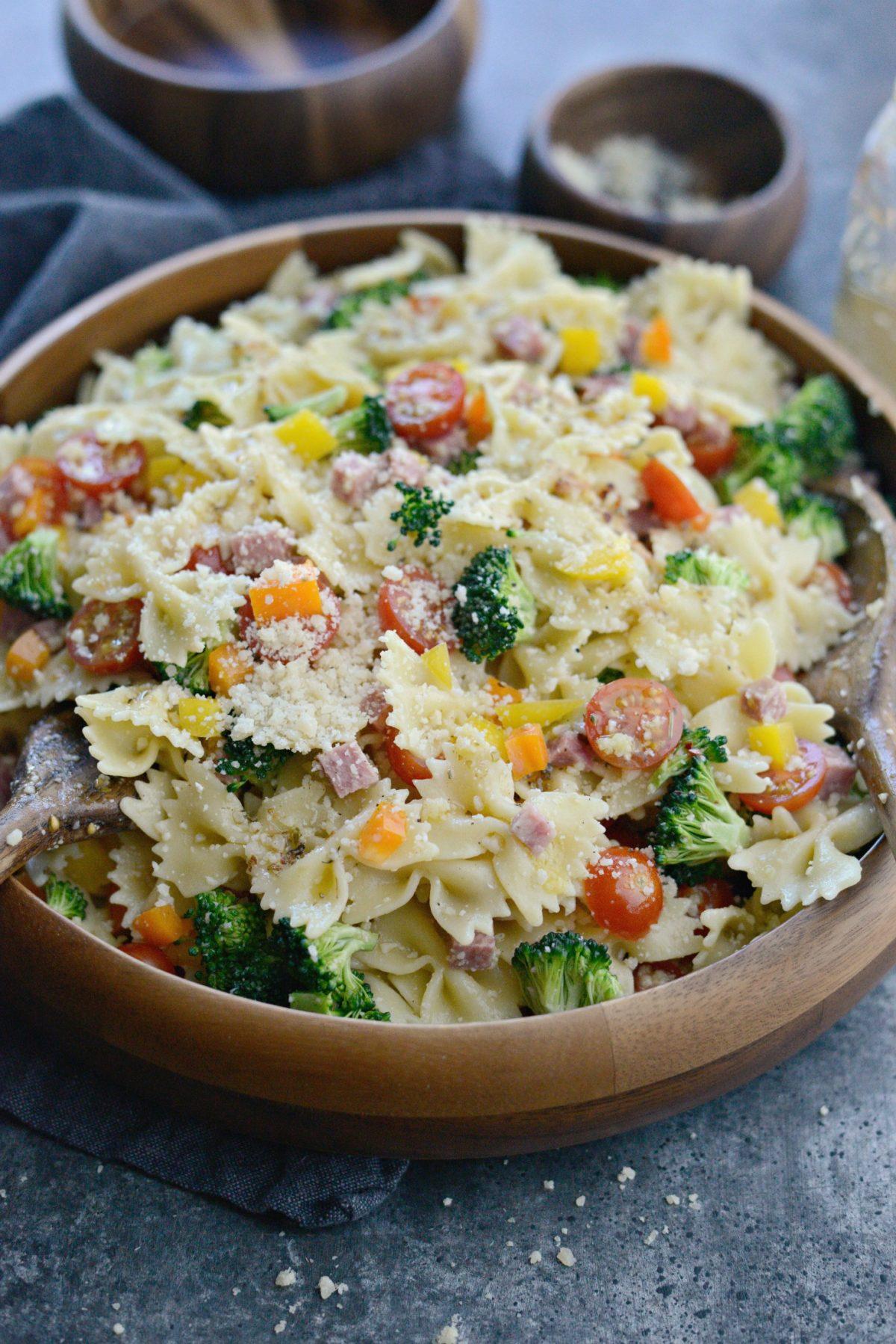 Italian Bowtie Pasta Salad l SimplyScratch.com (23)