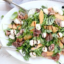 Cantaloupe + Prociutto Arugula Salad l SimplyScratch.com (11)