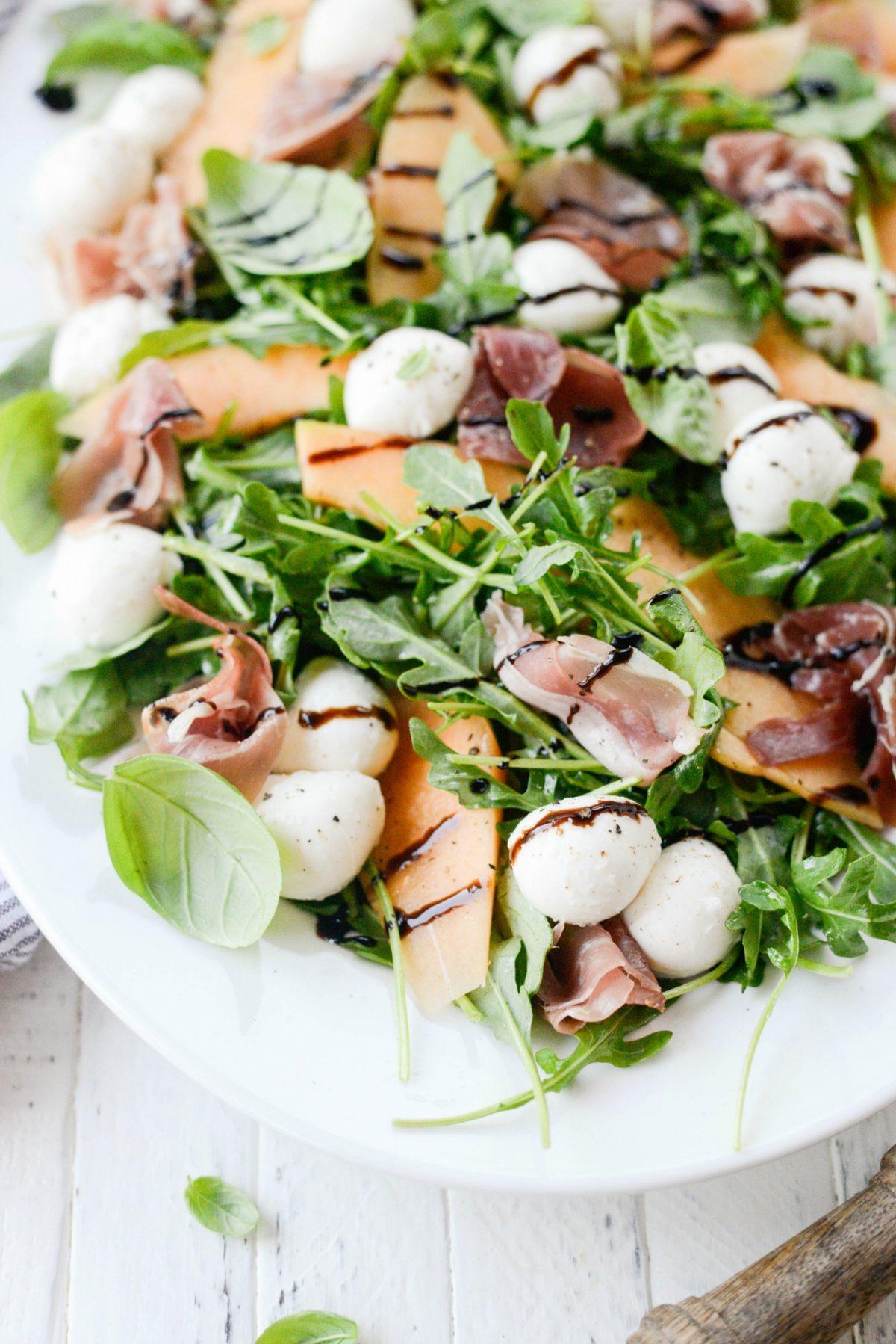 Cantaloupe and Prosciutto Arugula Salad l SimplyScratch.com (7)