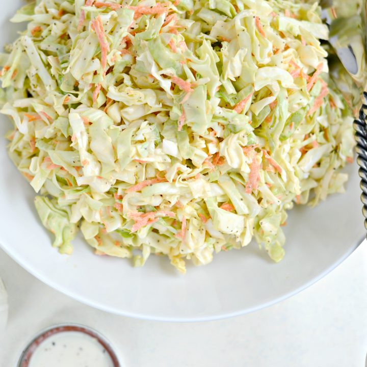 Classic Coleslaw Recipe with Homemade Dressing
