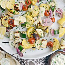 Grilled Halloumi + Vegetable Skewers l SimplyScratch (12)