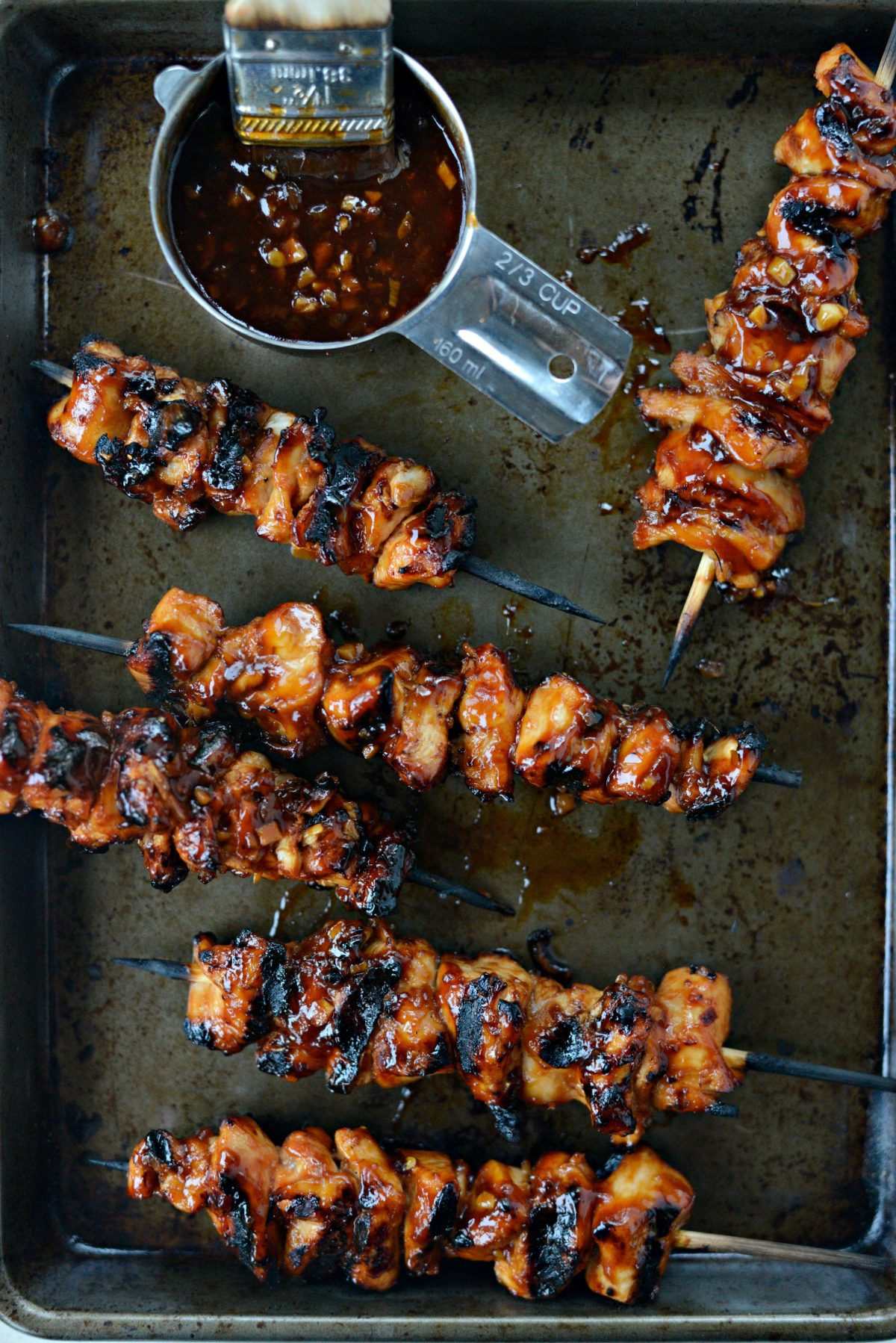 Grilled Sticky Sweet Chicken Skewers l SimplyScratch.com (14)