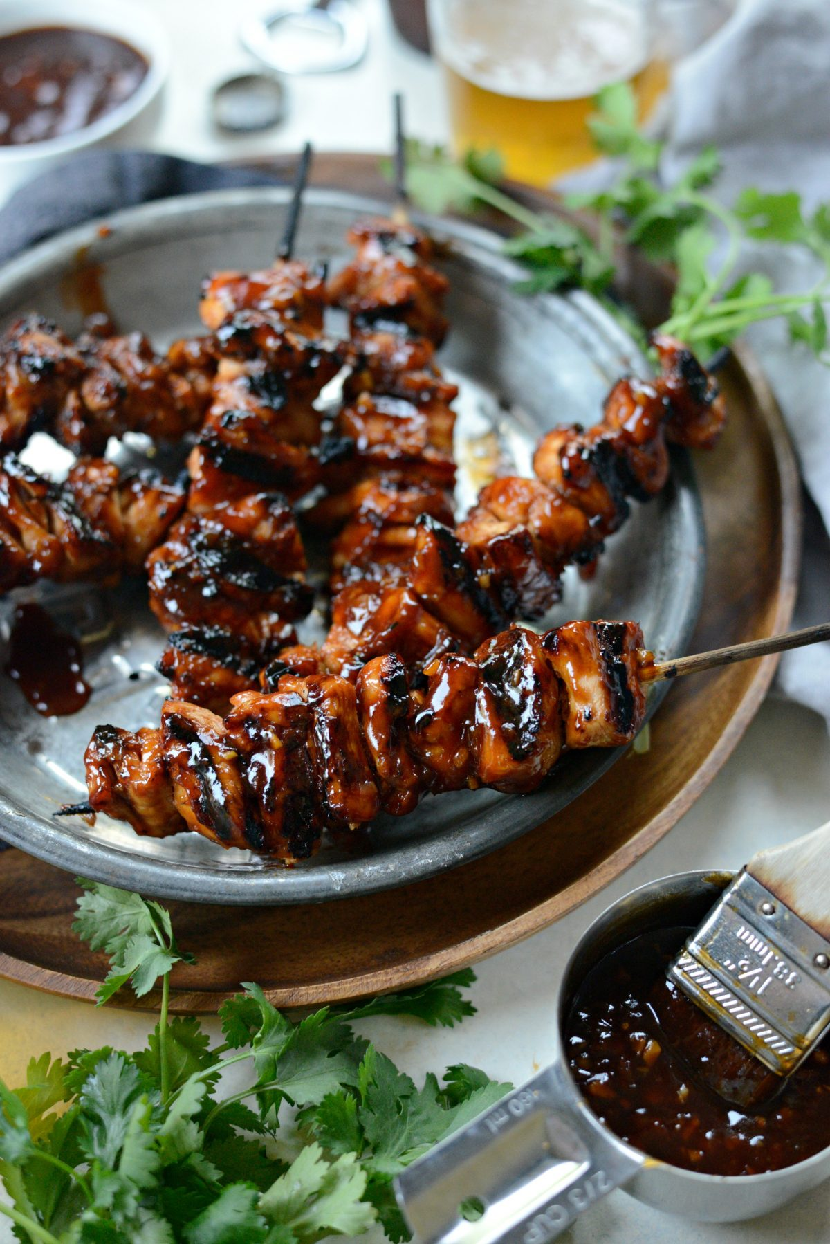Grilled Sticky Sweet Chicken Skewers l SimplyScratch.com (16)