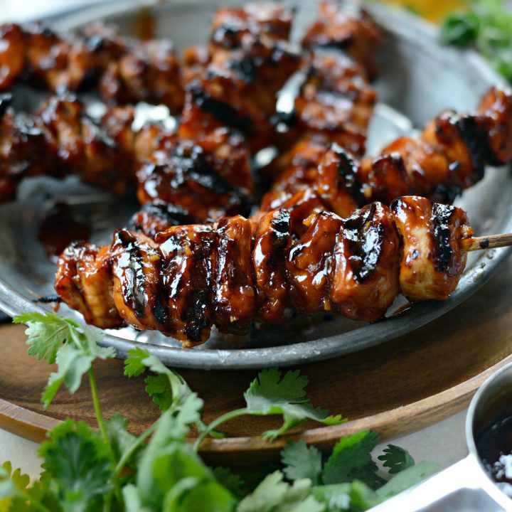 Grilled Sticky Sweet Chicken Skewers