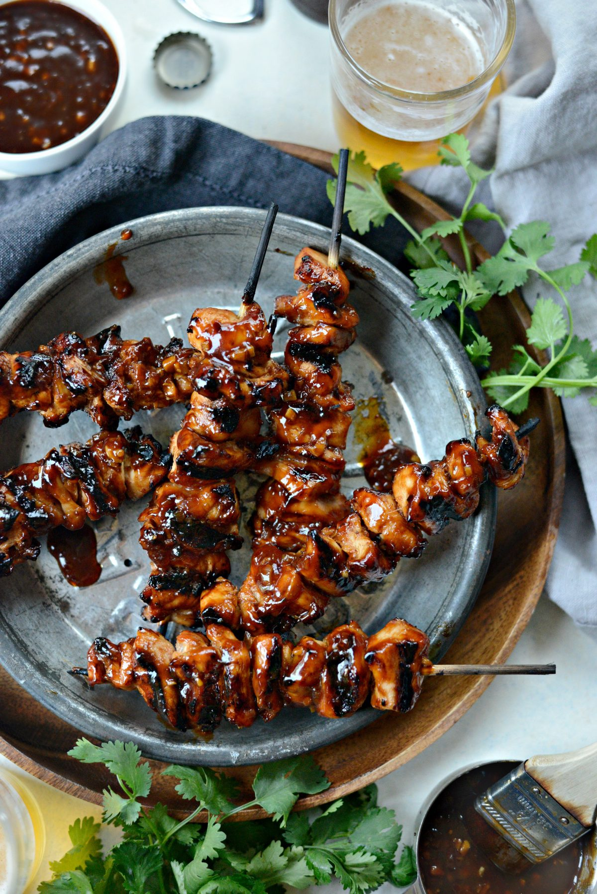 Grilled Sticky Sweet Chicken Skewers l SimplyScratch.com (20)