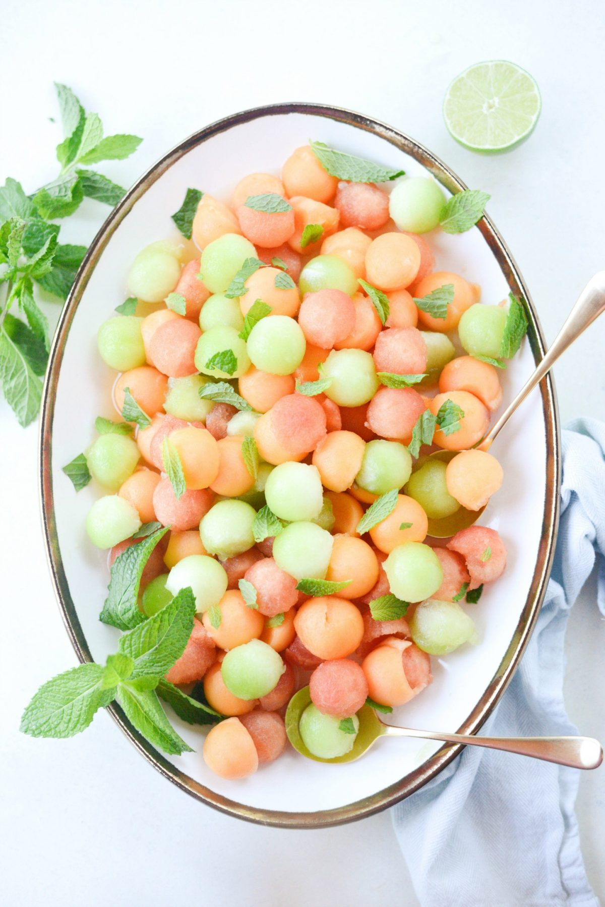 Melon Salad with Honey Lime and Mint (12)