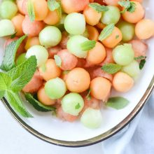Melon Salad with Honey Lime and Mint (7)