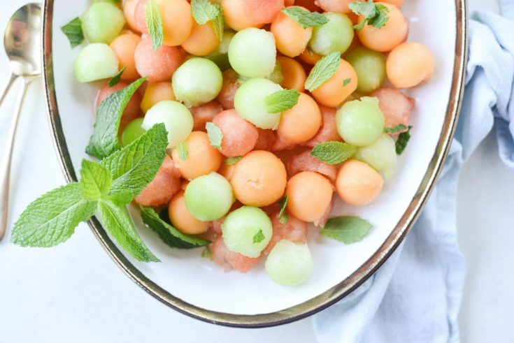 Melon Salad with Honey, Lime and Mint