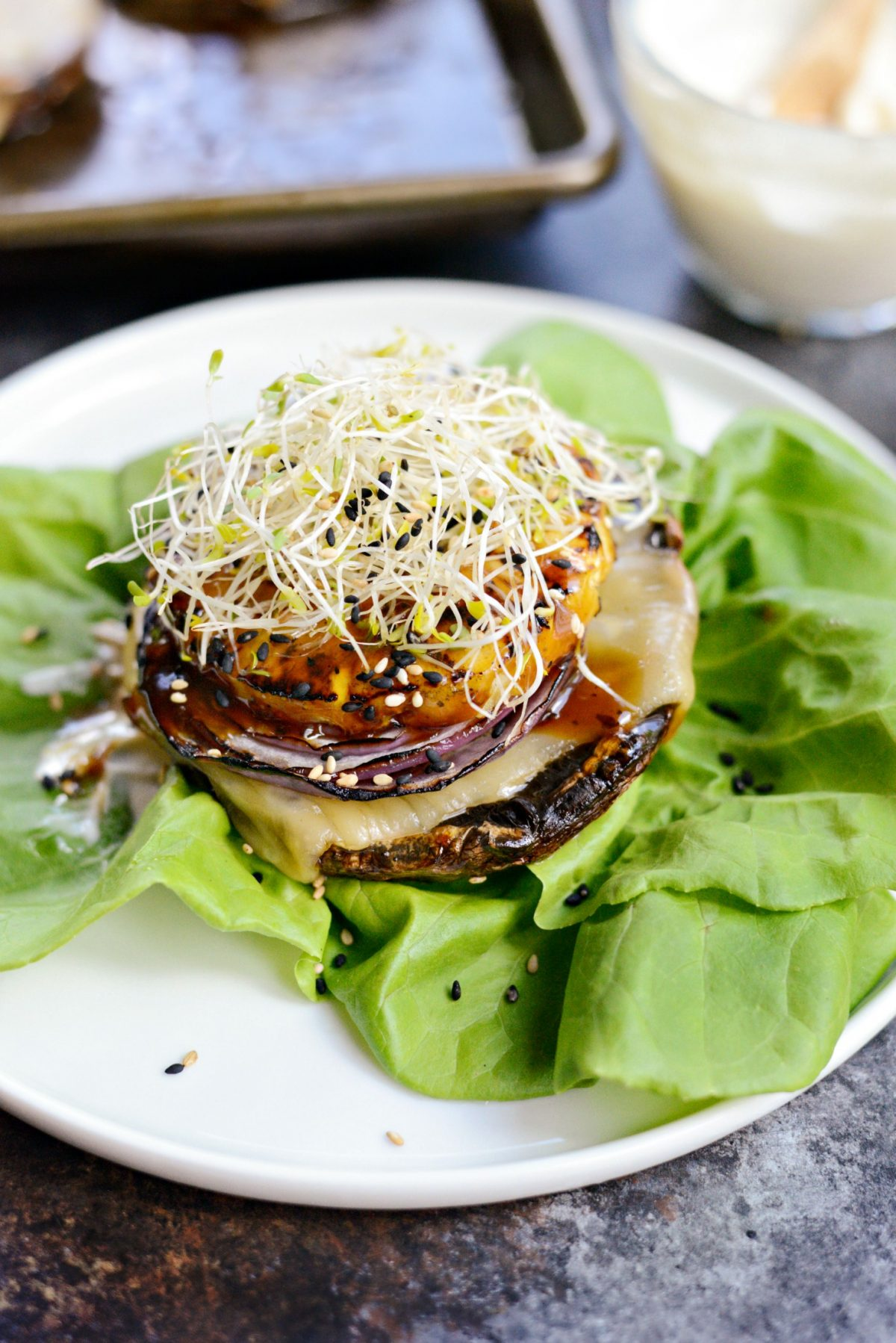 Grilled Teriyaki Portobello Burgers with Honey Wasabi Mayo l SimplyScratch.com (15)