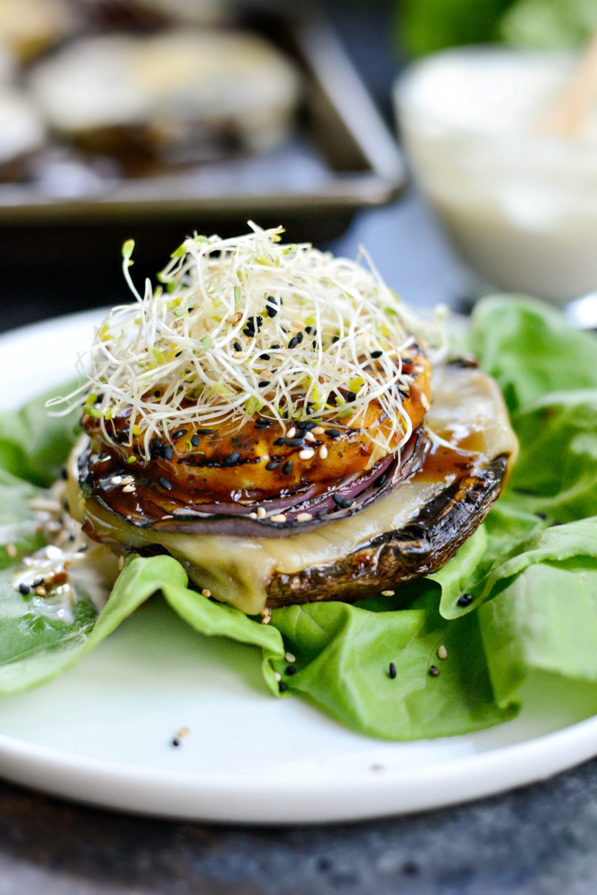 Grilled Teriyaki Portobello Burgers with Honey Wasabi Mayo l SimplyScratch.com (17)