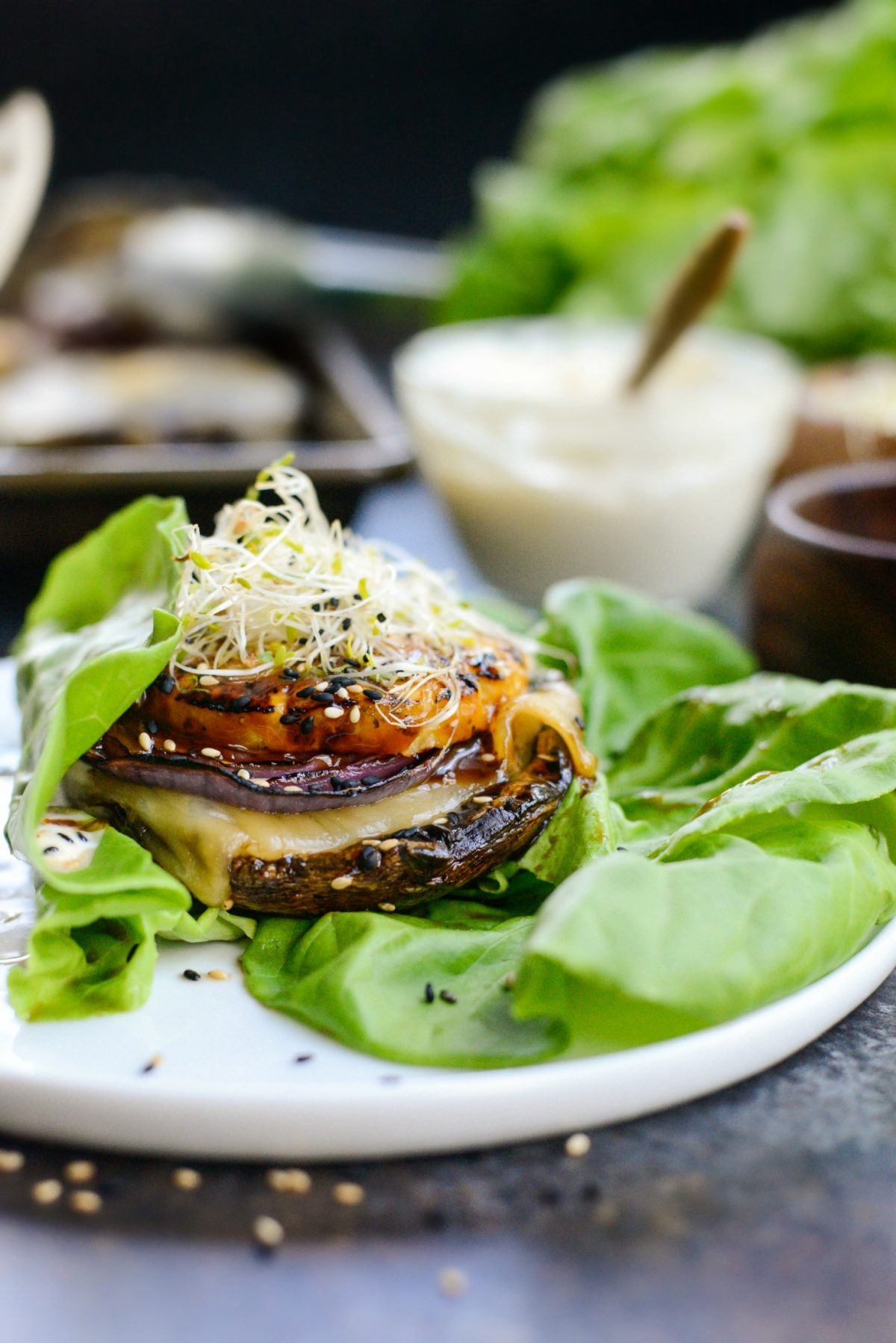 Grilled Teriyaki Portobello Burgers with Honey Wasabi Mayo l SimplyScratch.com (18)