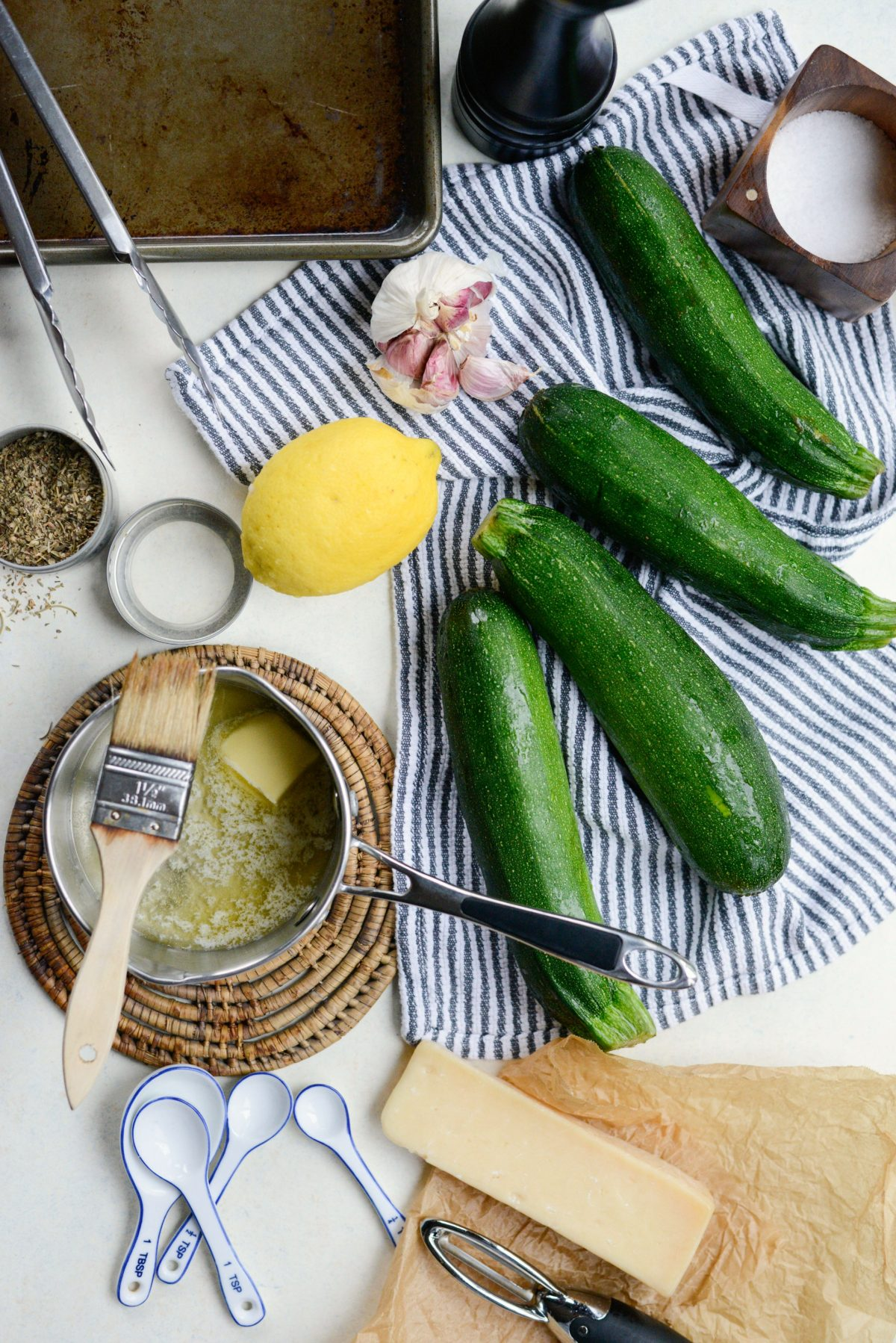 Simply Scratch Grilled Zucchini with Lemon, Garlic and ...