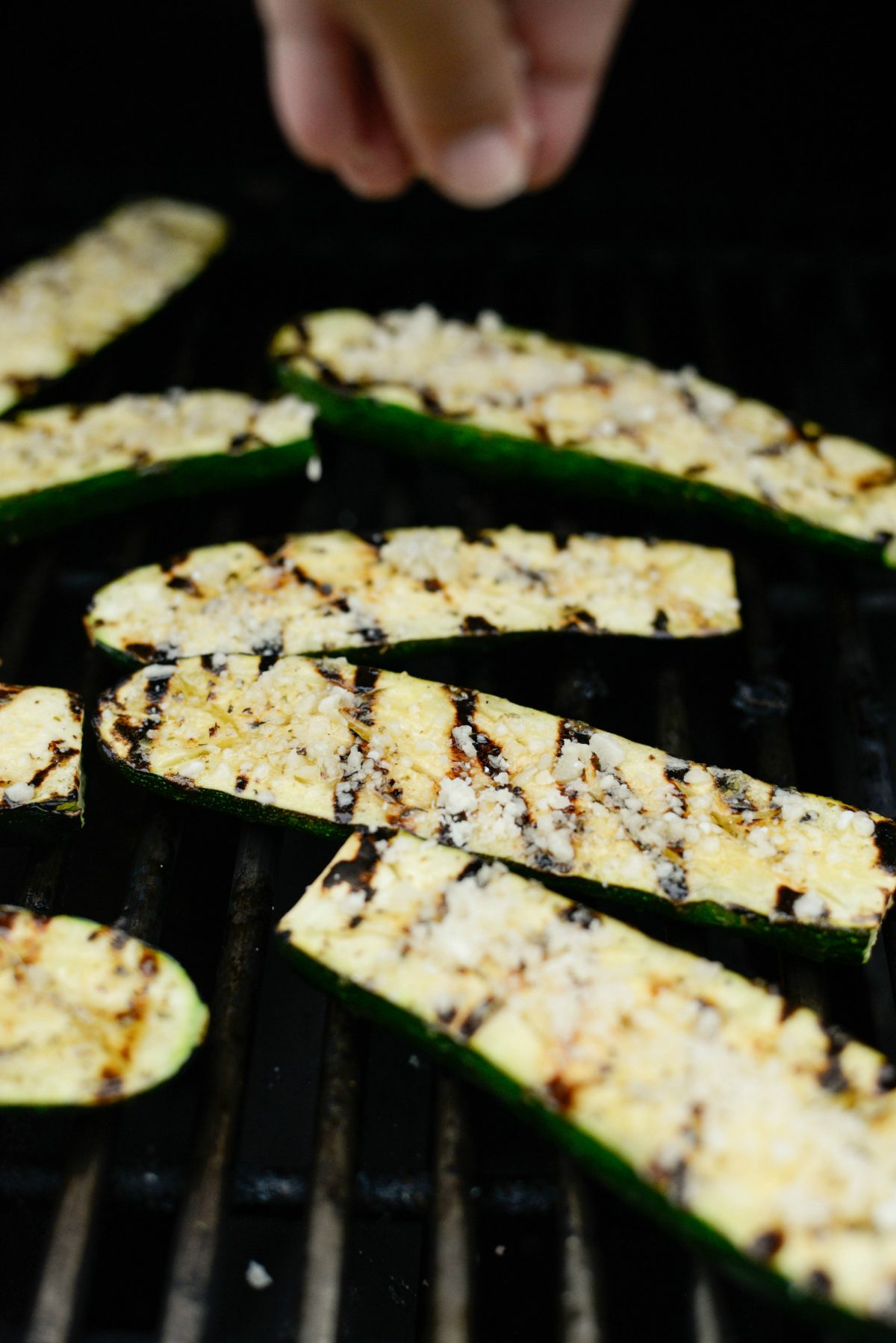 Grilled Zucchini with Lemon, Garlic and Parmesan l SimplyScratch.com