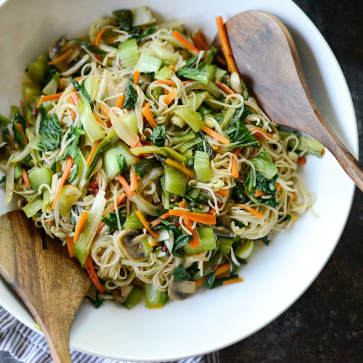 Chinese Vegetable Noodle Stir-Fry