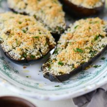 Baked Eggplant with Pecorino Crumbs l SimplyScratch.com (11)