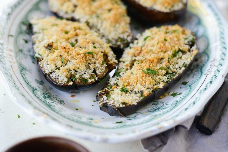Baked Eggplant with Pecorino Crumbs