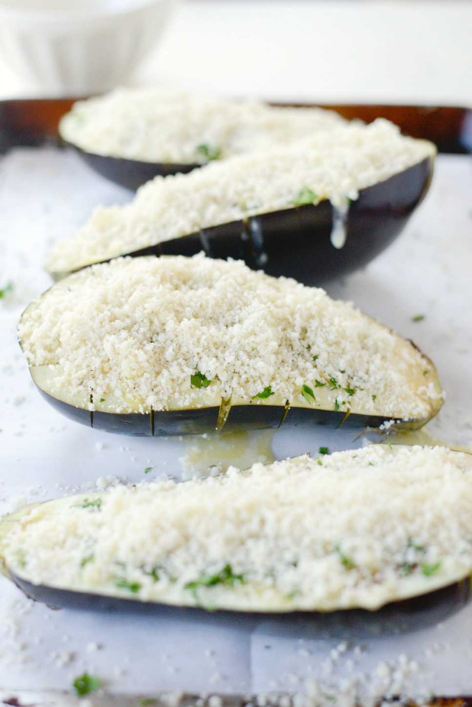 Baked Eggplant with Pecorino Crumbs l SimplyScratch.com (5)
