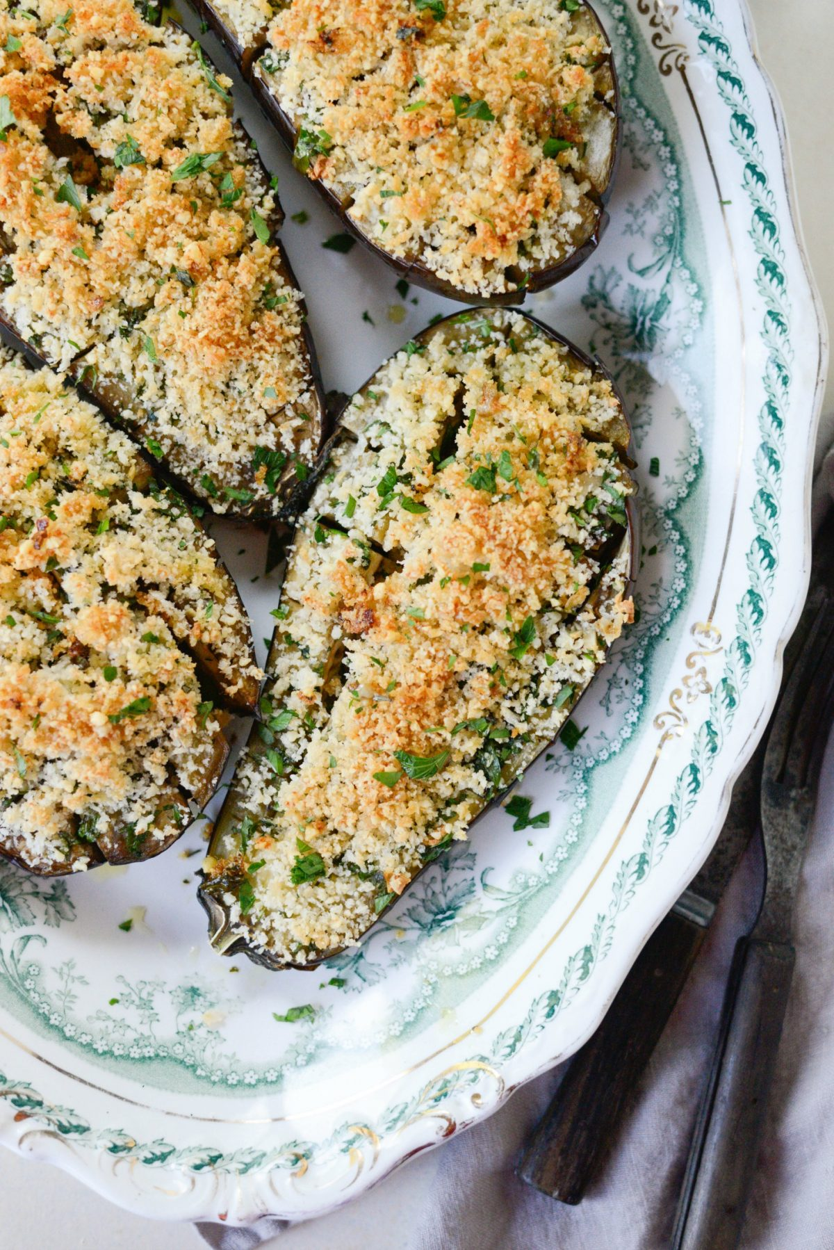 Baked Eggplant with Pecorino Crumbs l SimplyScratch.com (9)