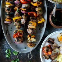 Grilled Beef and Vegetable Kebabs l SimplyScratch.com (16)