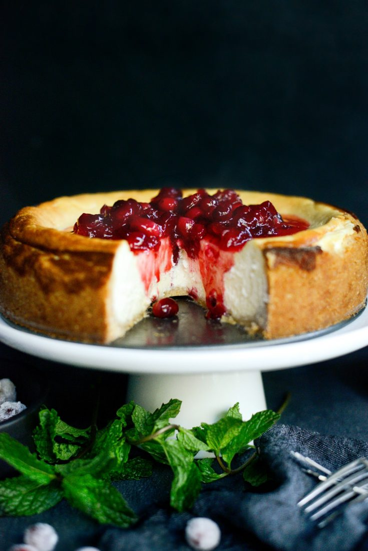 Goat Cheese Cheesecake with Tahini Shortbread Crust
