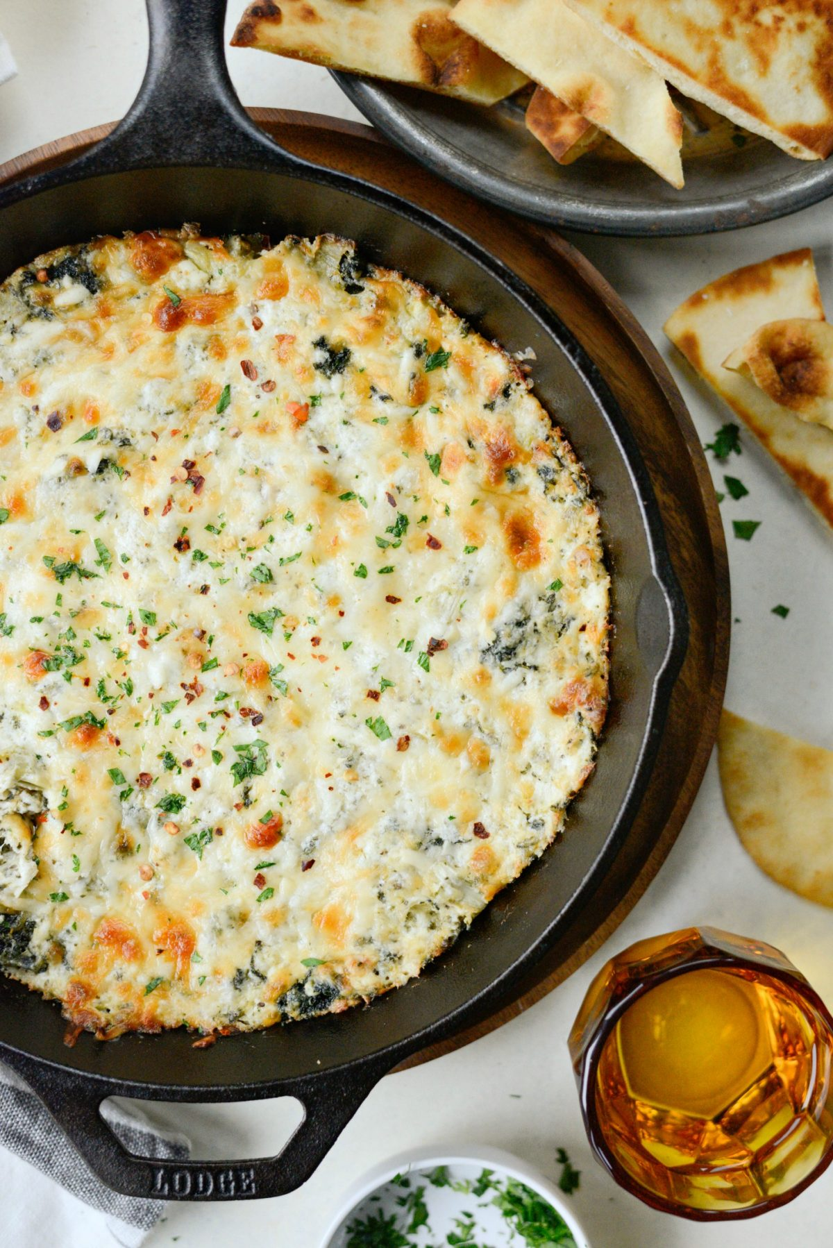 Hot Four Cheese Spinach Artichoke Dip l SimplyScratch.com (13)