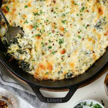 Hot Four Cheese Spinach Artichoke Dip l SimplyScratch.com (14)