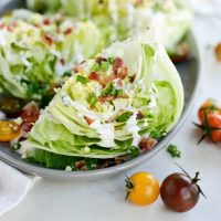 Loaded Wedge Salad with Black Pepper Buttermilk Dressing