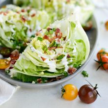 Loaded Wedge Salad with Black Pepper Buttermilk Dressing l SimplyScratch.com (17)