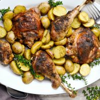 Easy Roasted Turkey Thighs and Drumsticks