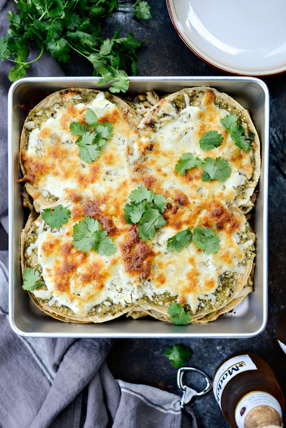 Salsa Verde Chicken Tortilla Casserole l SimplyScratch.com (12)