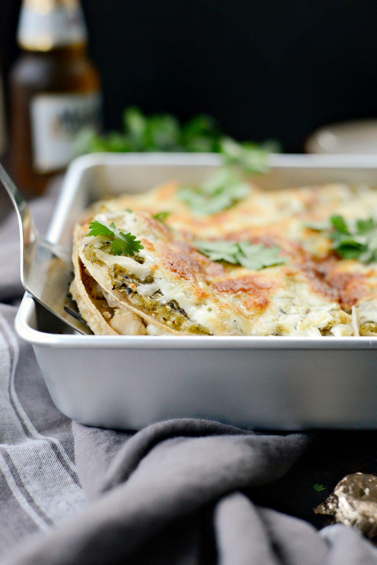 Salsa Verde Chicken Tortilla Casserole l SimplyScratch.com (13)