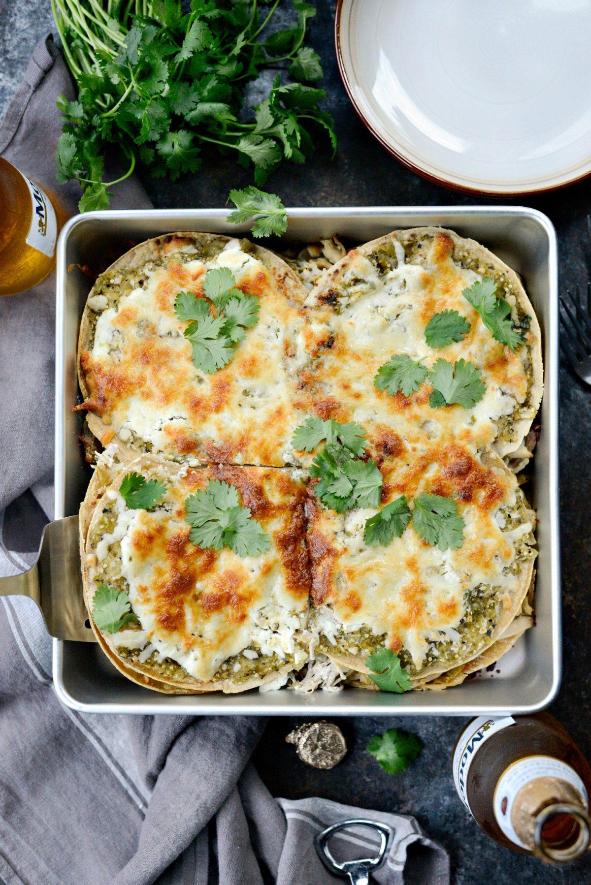 Salsa Verde Chicken Tortilla Casserole l SimplyScratch.com (14)