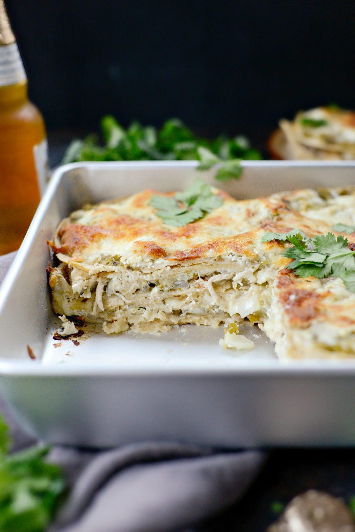 Salsa Verde Chicken Tortilla Casserole l SimplyScratch.com (15)