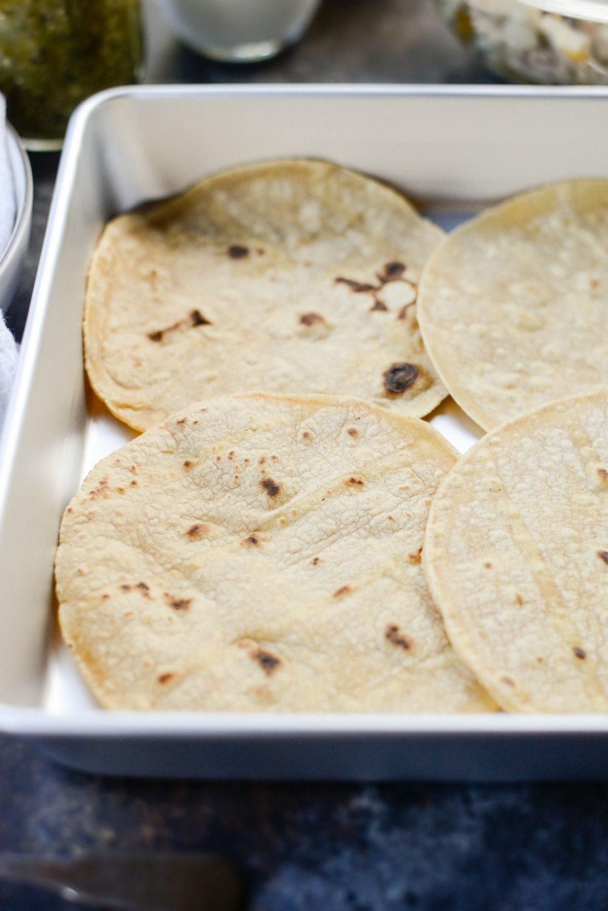 Salsa Verde Chicken Tortilla Casserole l SimplyScratch.com (2)