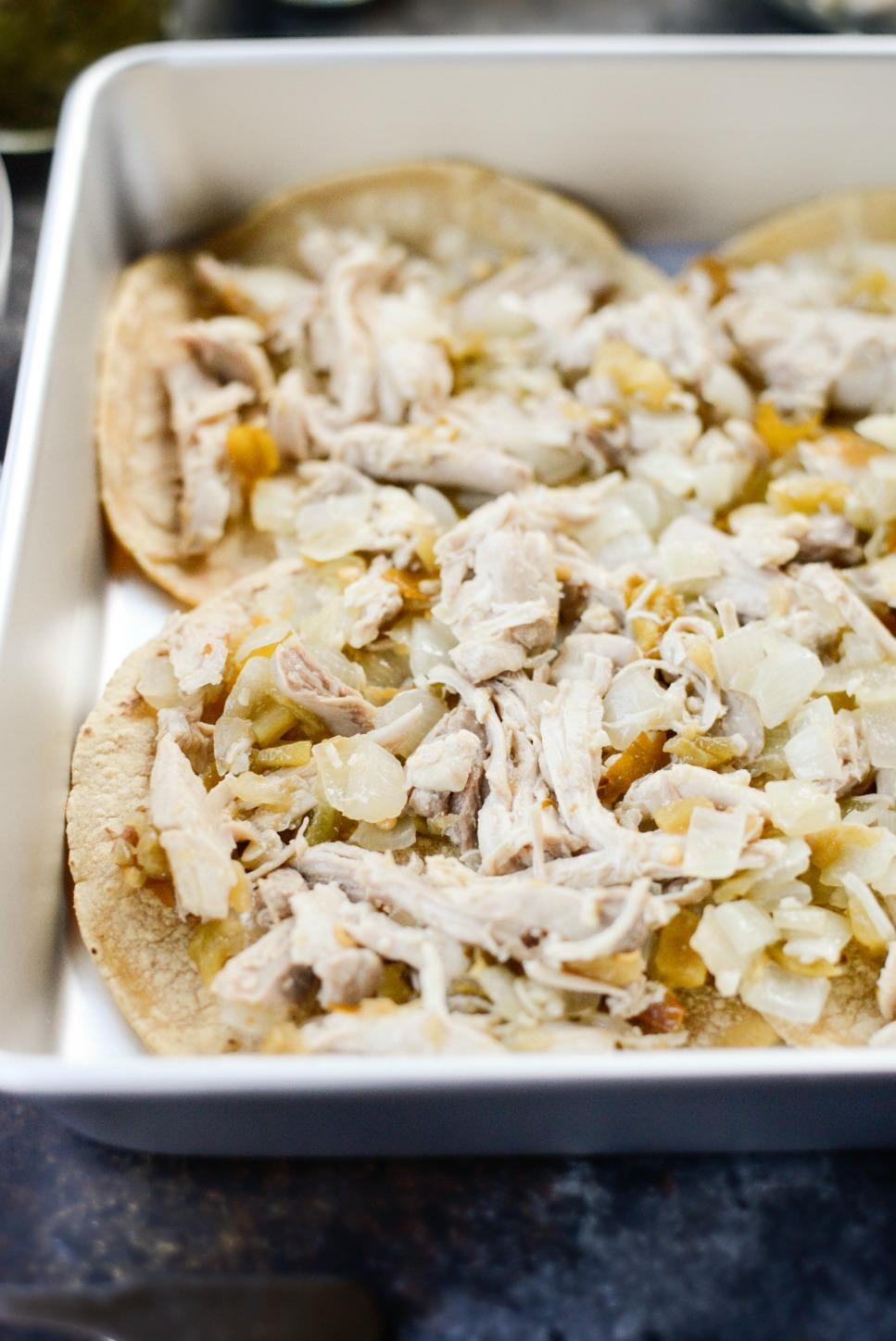 Salsa Verde Chicken Tortilla Casserole l SimplyScratch.com (3)