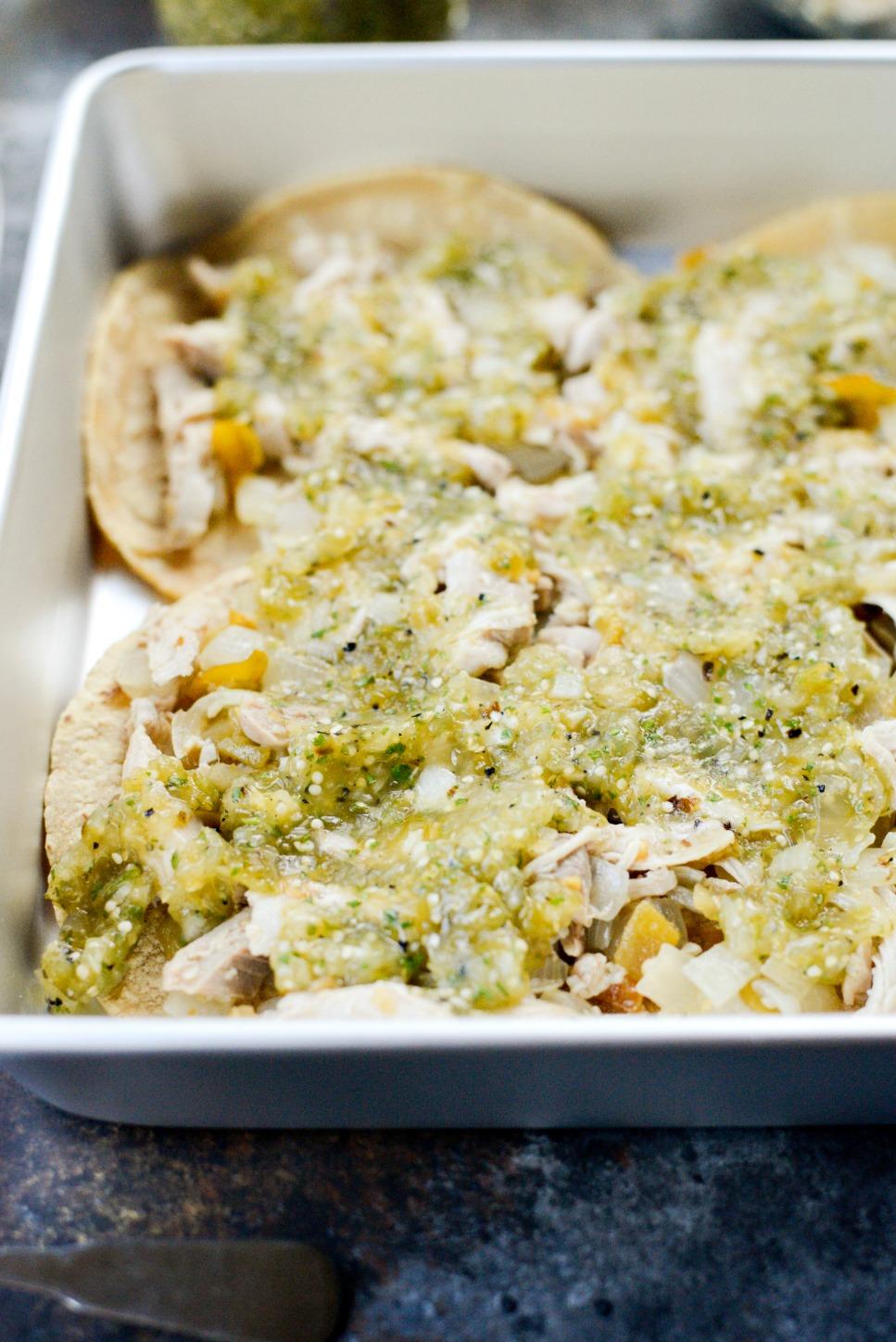 Salsa Verde Chicken Tortilla Casserole l SimplyScratch.com (4)