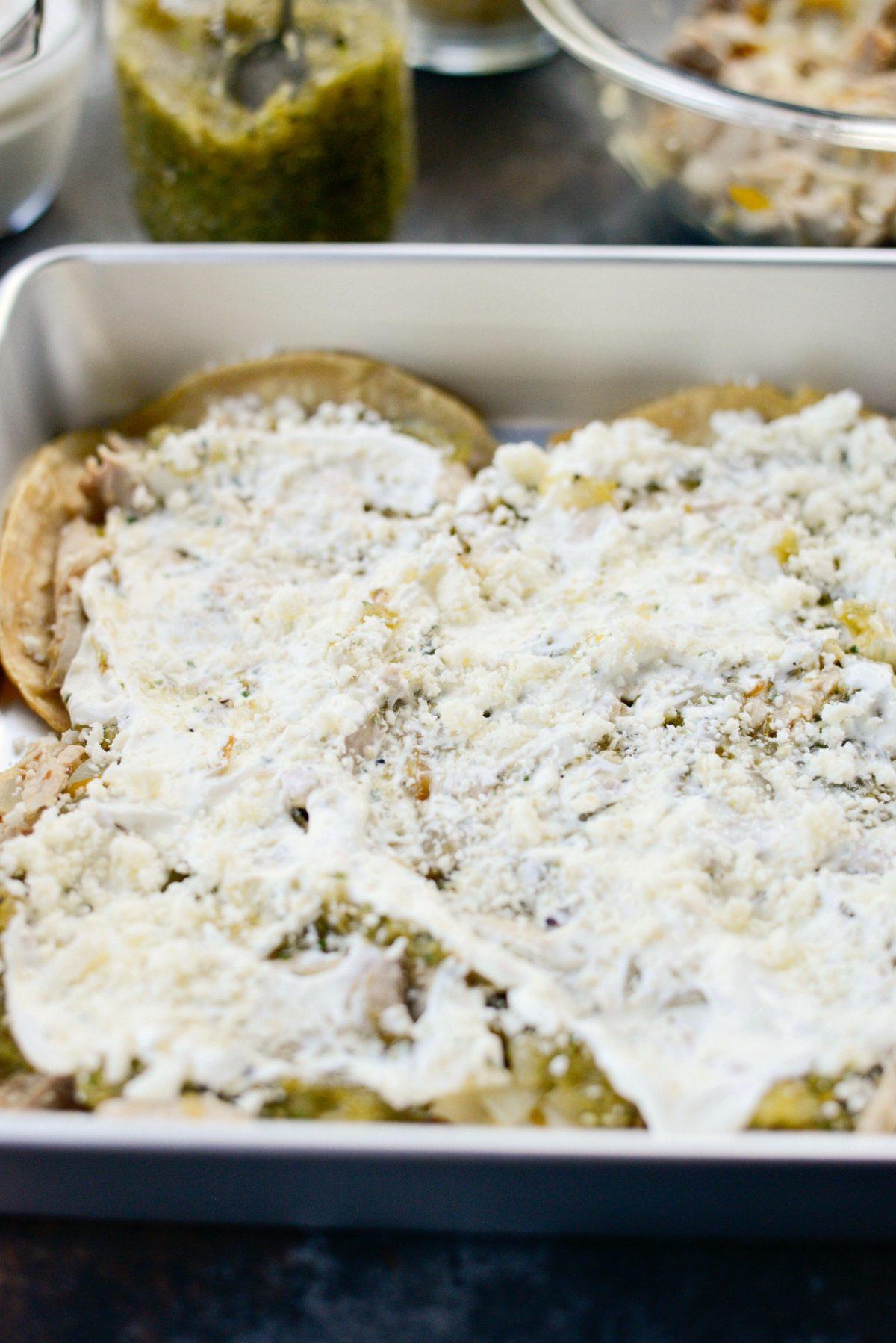 Salsa Verde Chicken Tortilla Casserole l SimplyScratch.com (6)