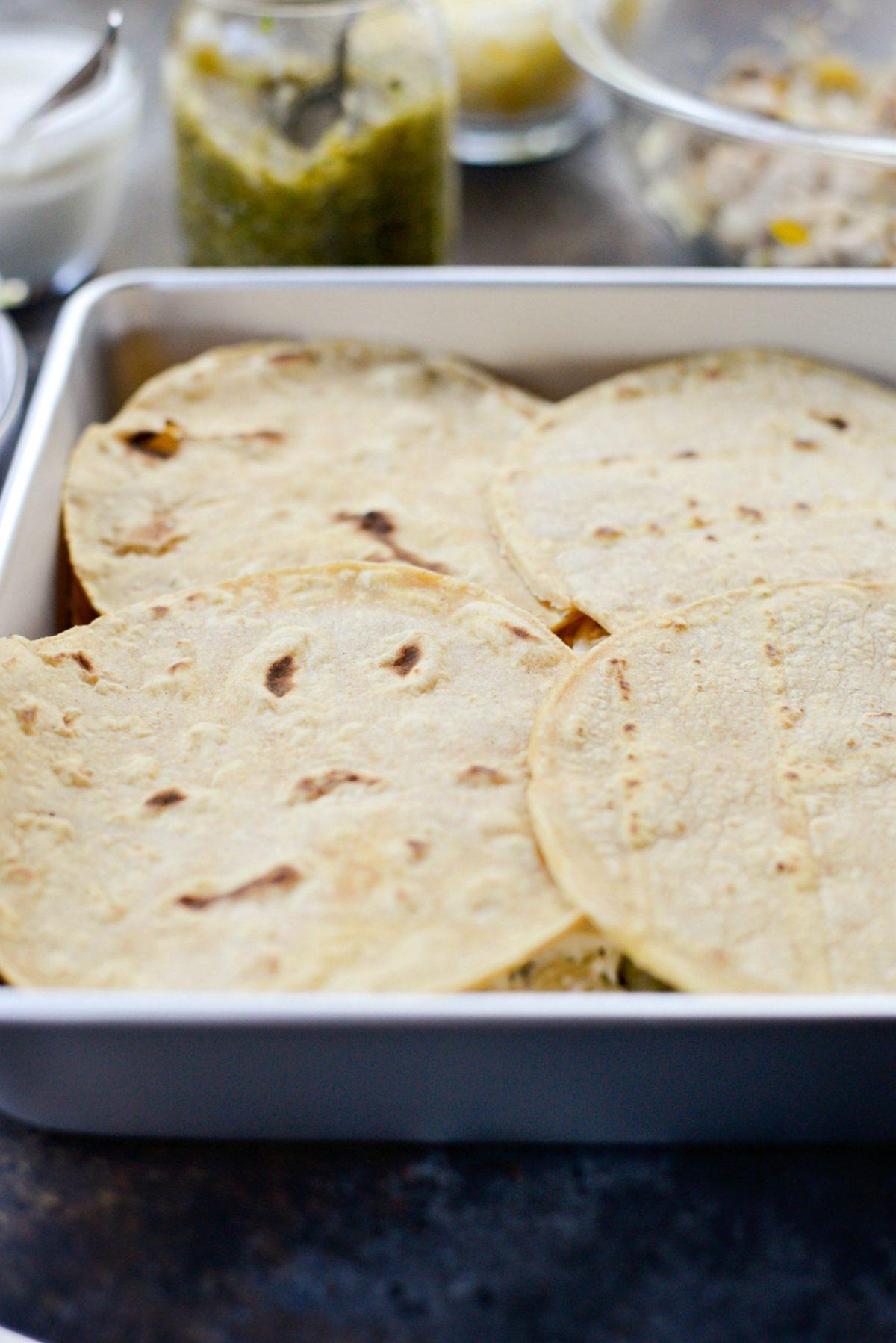 Salsa Verde Chicken Tortilla Casserole l SimplyScratch.com (7)