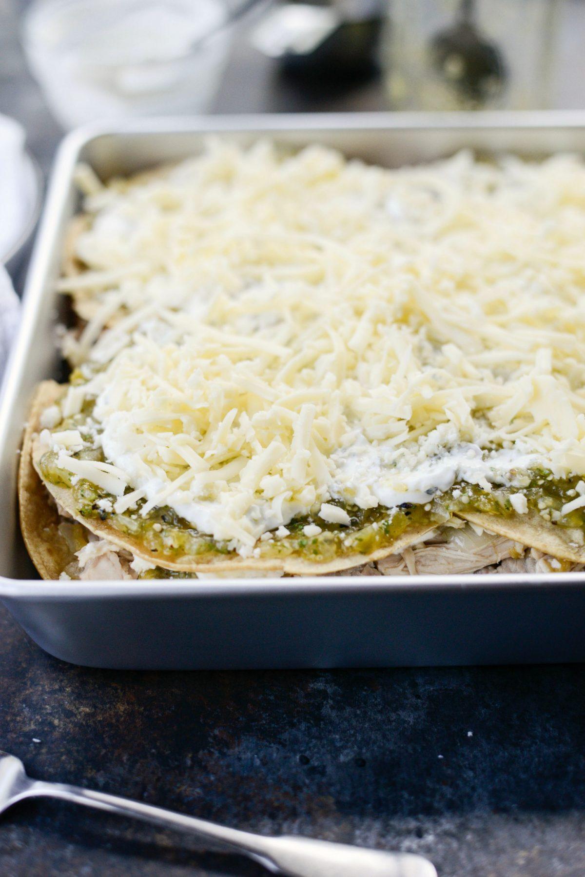 Salsa Verde Chicken Tortilla Casserole l SimplyScratch.com (9)