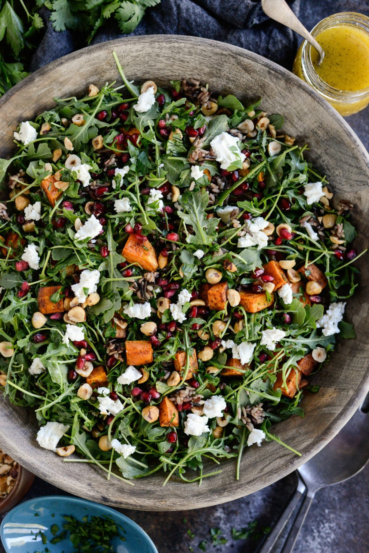 Sweet Potato Wild Rice Arugula Salad