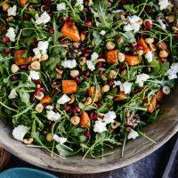Sweet Potato Wild Rice and Arugula Salad