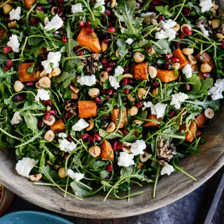 Sweet Potato Wild Rice and Arugula Salad