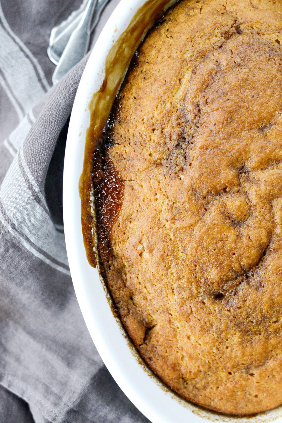 Warm Pumpkin Pudding Cake l SimplyScratch.com (8)
