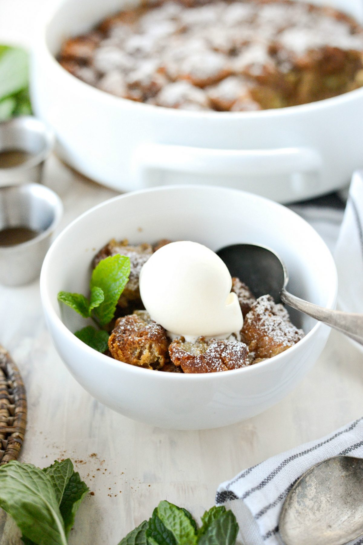 Cider Mill Doughnut Bread Pudding with Butter Rum Sauce l SimplyScratch.com (24)