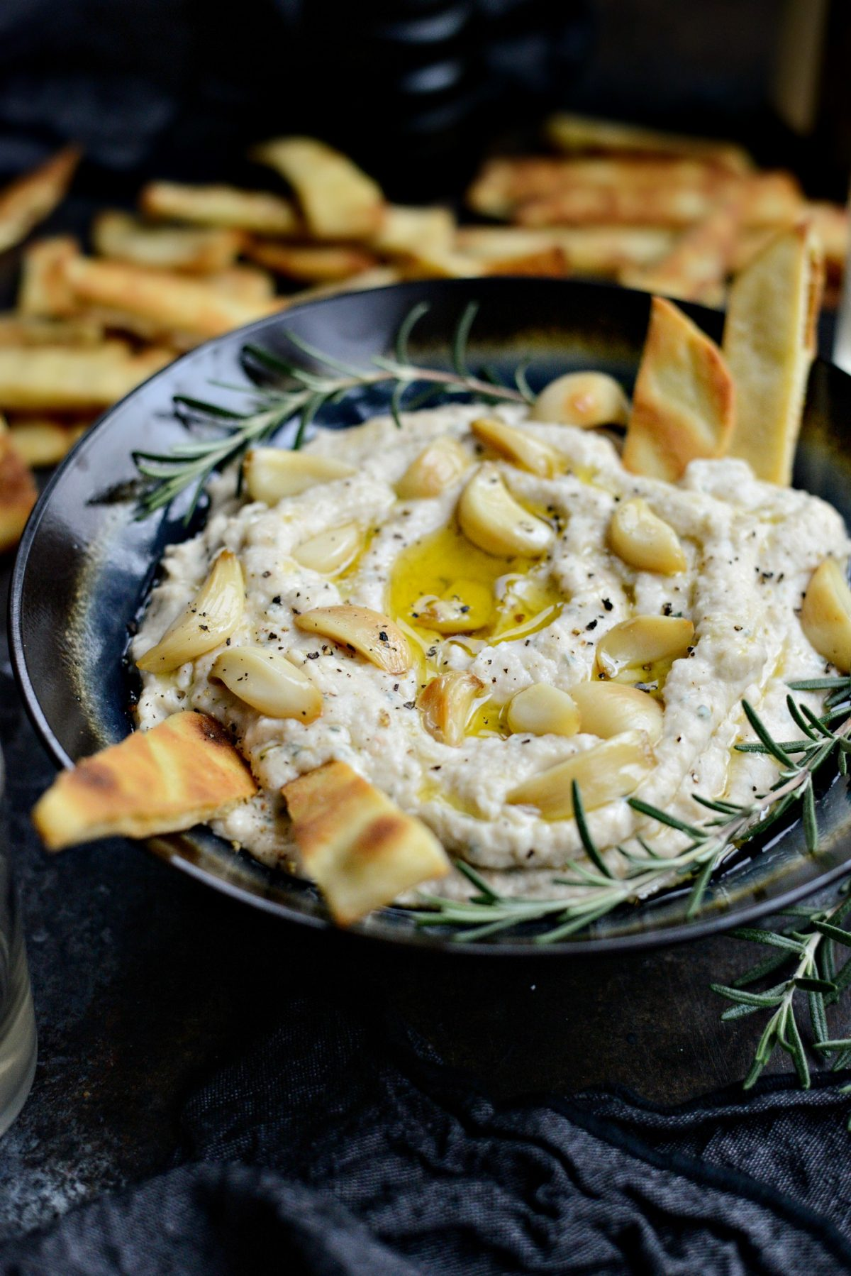 Roasted Garlic and Rosemary White Bean Dip l SimplyScratch.com (11)
