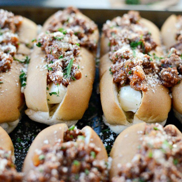 Saucy Mozzarella Dogs